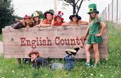 English County Schild mit Kindern